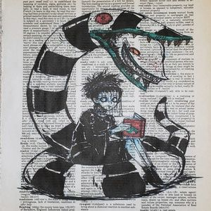 BEETLEJUICE LYDIA Framed Print